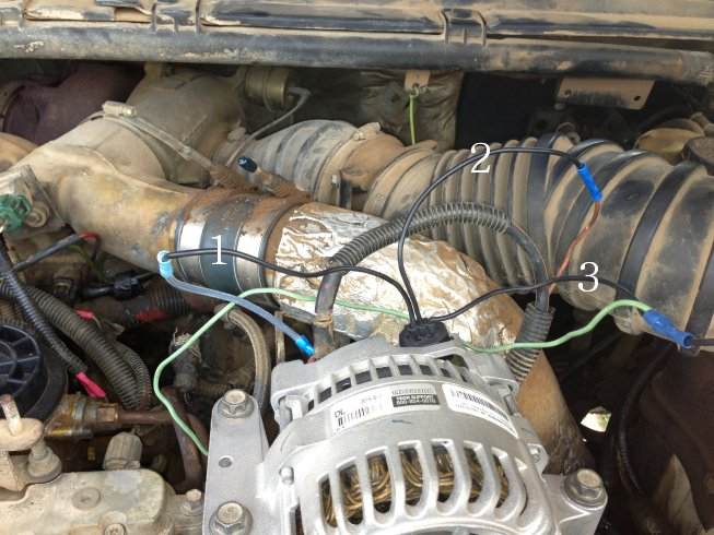 2000 f250 7 3 alternator wiring help ford truck enthusiasts forums it runs to a light green red wire in the harness but also splits out and goes directly to the negative battery terminal
